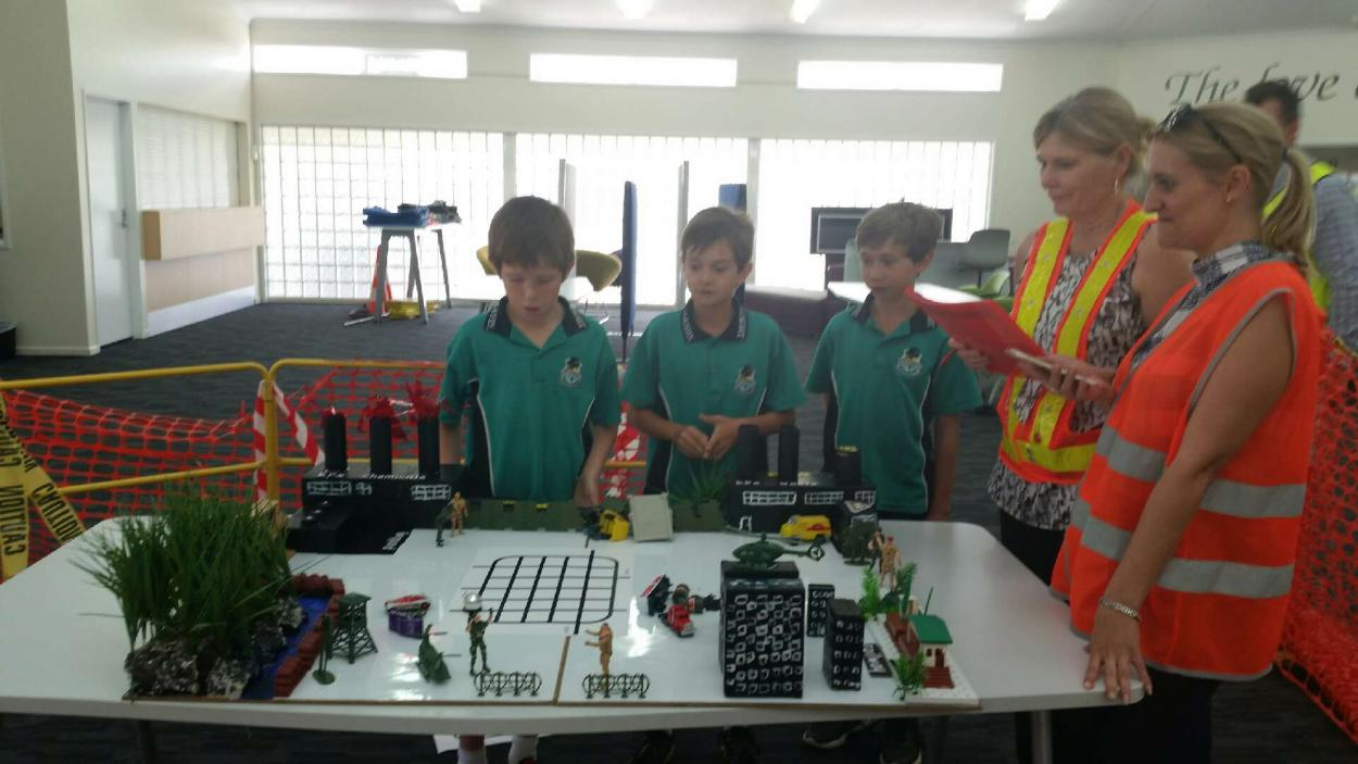Robotics group of students and teachers